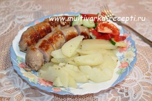 Колбаски для жарки в мультиварке