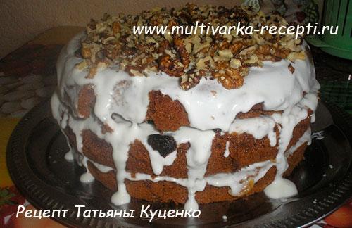Рецепт торта с курагой и грецкими орехами