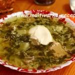 Суп с щавелем в мультиварке