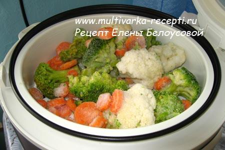 Овощи на пару в мультиварке рецепты диетические с фото