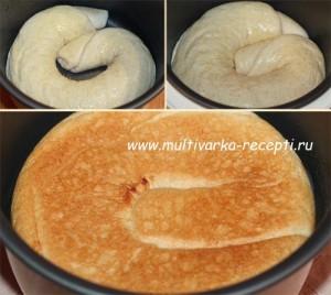 Дрожжевой пирог или рулет с творогом в мультиварке