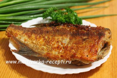 Рыба в мультиварке жареная