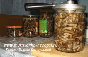 Маринованные грибы в мультиварке