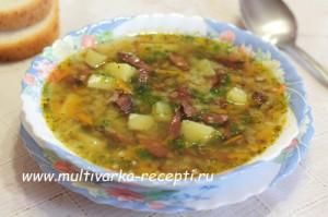 Суп «Шахтерский» в мультиварке
