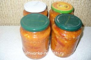 Салат на зиму из моркови с помидорами в мультиварке