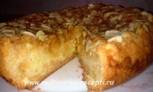 Яблочный пирог со штрейзелем в мультиваркеФото_11