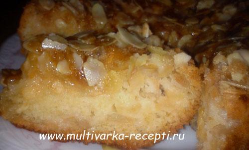 Яблочный пирог со штрейзелем в мультиваркеФото_12