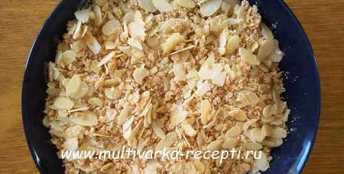 Яблочный пирог со штрейзелем в мультиваркеФото_2