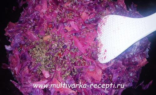 Краснокочанная капуста по-чешски в мультиварке