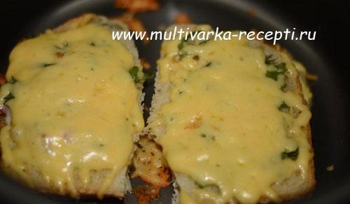 Бутерброды с сыром в мультиварке