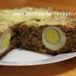 Мясная запеканка с яйцом в мультиварке