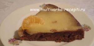 Постный мандариновый пирог в мультиварке