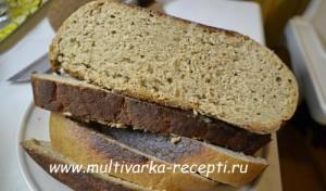 Ржаной хлеб в мультиварке Redmond