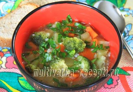 суп из брокколи в мультиварке