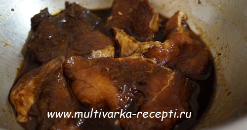 Свинина в соевом соусе в мультиварке