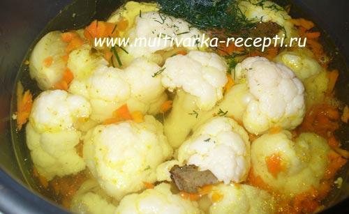 суп пюре из цветной капусты в мультиварке
