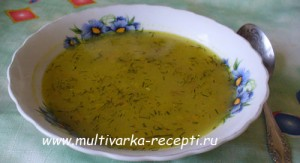 Суп с консервированным зеленым горошком в мультиварке