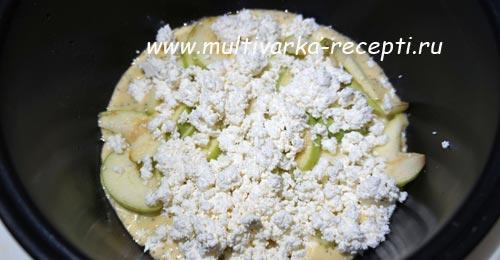 пирог творог яблоки рецепт
