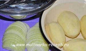 Картофель с рыбой в мультиварке (по-хантыйски)