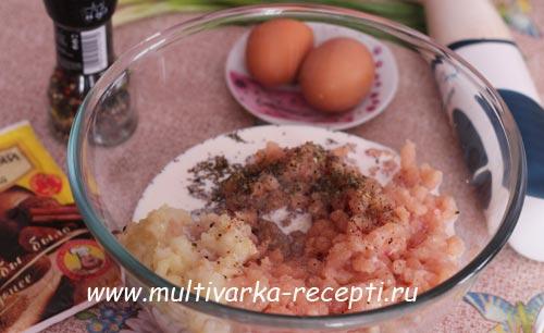 куриное суфле с овощами в мультиварке