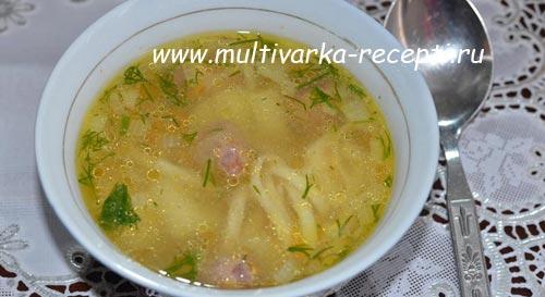 Суп с сердечками в мультиварке