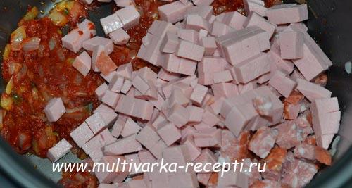 как приготовить подливу с колбасой