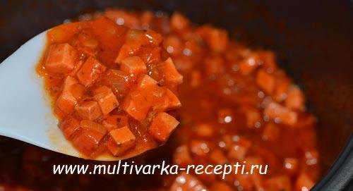 как сделать подлив с колбасой
