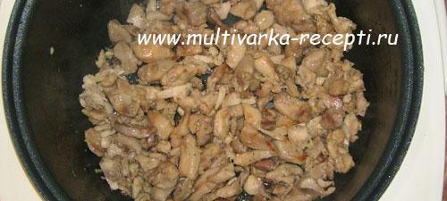 макароны с куриным мясом