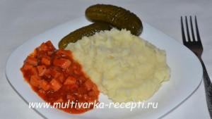 Подливка (подлив) из колбасы в мультиварке