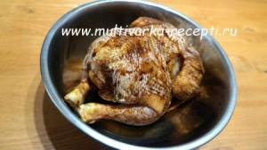 Цыпленок в фольге в мультиварке