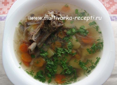 гречневый-суп-с-грибами-в-мультиварке