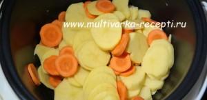 Хек с картофелем в мультиварке
