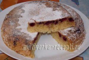 Пирог с вишней в мультиварке – рецепты