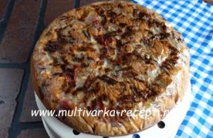 Пирог с ревенем в мультиварке