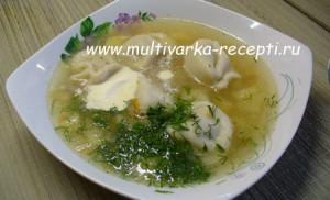 sup s pelmenyami v multivarke