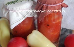 Лечо из перцев и помидоров в мультиварке