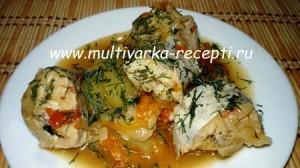 Рыба с кабачками в мультиварке-скороварке