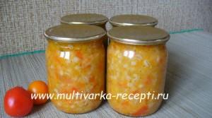 Салат с перловкой в мультиварке – рецепт на зиму