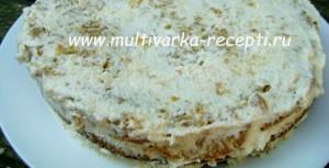 Тыквенный торт с йогуртовым кремом в мультиварке