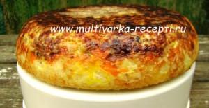 Запеканка из печени и риса в мультиварке
