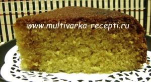 Кукурузный пирог с шоколадом в мультиварке