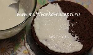 Шоколадный торт на кефире в мультиварке