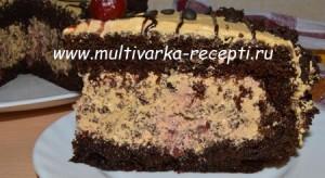 Торт «Пьяная вишня в шоколаде» (рецепт для духовки и мультиварки)