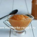 Тыквенно-яблочное пюре в мультиварке