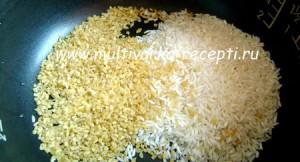 Каша с тыквой, рисом и булгуром в мультиварке