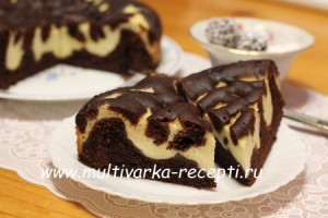 Шоколадный пирог с творогом в мультиварке