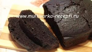 Постный шоколадный кекс в хлебопечке