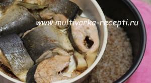 Гречка с рыбой в мультиварке