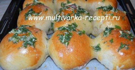 пампушки с чесноком рецепт в хлебопечке со ржаной мукой