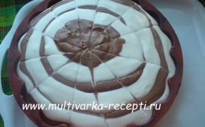 Творожно-шоколадный желейный торт